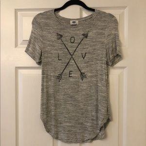 NWOT Love Arrow Super Soft Jersey Tee Size XS
